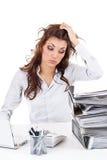 Empresaria cansada foto de archivo libre de regalías