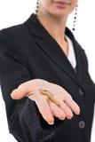 Empresaria con clave Foto de archivo libre de regalías