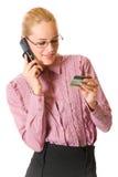 Empresaria con de la tarjeta de crédito Foto de archivo