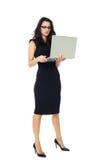 Empresaria con el ordenador portátil Imagen de archivo libre de regalías