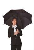 Empresaria con el paraguas Fotografía de archivo libre de regalías