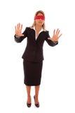 Empresaria con los ojos vendados Foto de archivo libre de regalías
