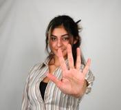 Empresaria counting-1 Fotos de archivo libres de regalías