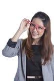 Empresaria de la belleza de las lentes Imagen de archivo