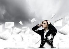 Empresaria deprimida Imágenes de archivo libres de regalías