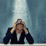 Empresaria deprimida Fotos de archivo