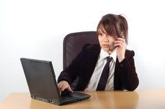 Empresaria en el escritorio #15 Fotografía de archivo