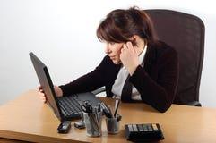 Empresaria en el escritorio #9 Imagen de archivo libre de regalías