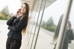 Empresaria en el teléfono Fotos de archivo