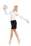Empresaria en la imagen de un bailarín Fotos de archivo