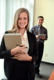 Empresaria en oficina Imagen de archivo libre de regalías