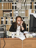 Empresaria enferma Imágenes de archivo libres de regalías