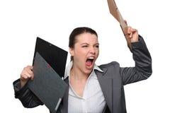 Empresaria enojada Imagen de archivo libre de regalías