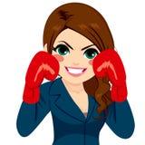 Empresaria Fighter Gloves stock de ilustración