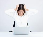 Empresaria frustrada Fotos de archivo libres de regalías