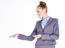 Empresaria Holding Hands Out a echar a un lado Imagen de archivo libre de regalías