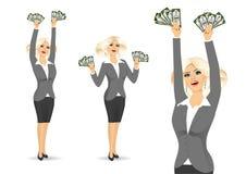 Empresaria Holding Money libre illustration