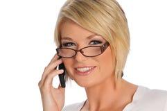 Empresaria joven en el teléfono Foto de archivo libre de regalías