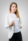 Empresaria joven en ropa de sport Fotos de archivo libres de regalías