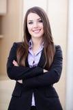 Empresaria joven feliz Fotografía de archivo libre de regalías