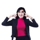 Empresaria joven Thinking Imagen de archivo libre de regalías