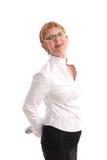 Empresaria madura sonriente imagenes de archivo