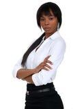 Empresaria negra acertada Imagen de archivo libre de regalías