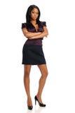 Empresaria negra joven Foto de archivo libre de regalías