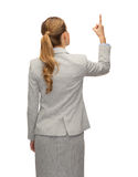 Empresaria o profesor en traje de la parte posterior Fotos de archivo libres de regalías