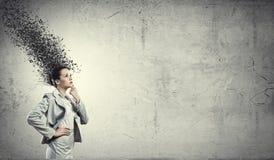 Empresaria pensativa Foto de archivo libre de regalías