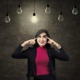 Empresaria Positive Thinking Fotografía de archivo libre de regalías