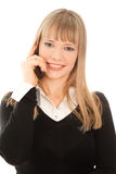 Empresaria que llama por el teléfono Fotos de archivo