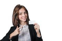 Empresaria que lleva a cabo las llaves en su mano imagenes de archivo