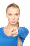 Empresaria que señala su finger Fotografía de archivo libre de regalías