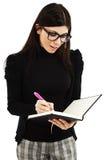 Empresaria que toma notas Imagen de archivo libre de regalías