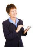 Empresaria que toma notas Foto de archivo libre de regalías