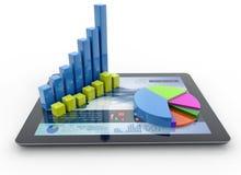 Empresaria que trabaja con informes financieros libre illustration