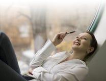 Empresaria sonriente Imagenes de archivo
