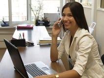 Empresaria sonriente Fotos de archivo libres de regalías