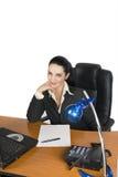 Empresaria sonriente Imagen de archivo libre de regalías