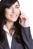 Empresaria sonriente del teléfono imágenes de archivo libres de regalías