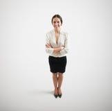 Empresaria sonriente en desgaste formal Foto de archivo