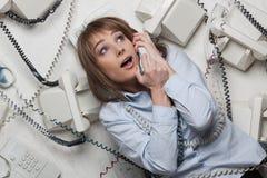 Empresaria tensionada foto de archivo libre de regalías