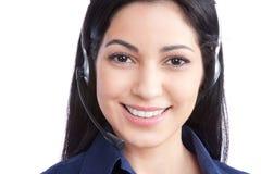 Empresaria Wearing auriculares Fotografía de archivo libre de regalías
