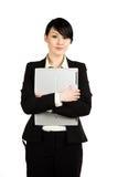 Empresaria y computadora portátil Foto de archivo libre de regalías