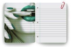 Empresaria y libreta Fotos de archivo libres de regalías