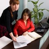 Empresaria y secretaria Foto de archivo libre de regalías