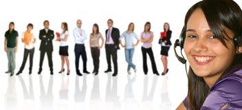 Empresaria y su businessteam Fotografía de archivo