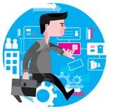 Empresario activo, concepto de la operación comercial Imágenes de archivo libres de regalías