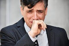 Empresario colombiano gritador del hombre de negocios imágenes de archivo libres de regalías